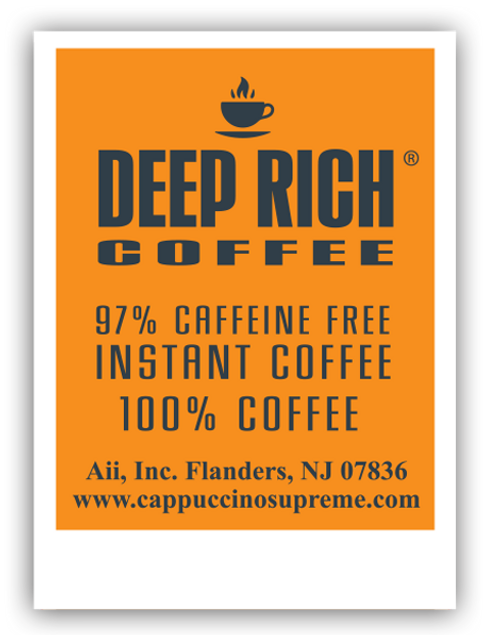 Deep Rich Single Serve Decaf Coffee Packet