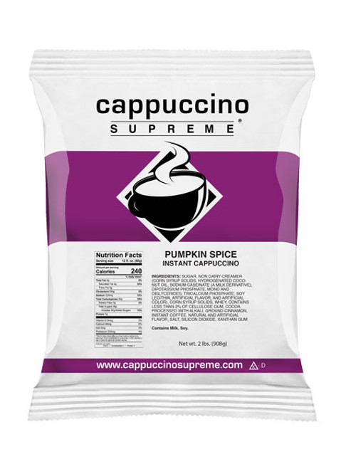 New and improved cappuccino supreme pumpkin spice cappuccino mix