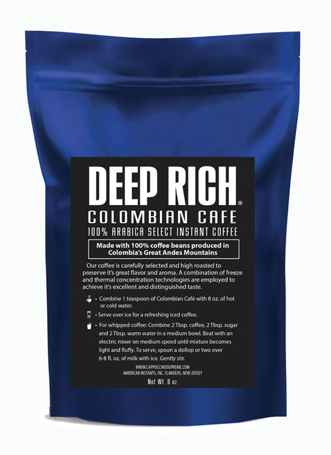 Great tasting Colombian Cafe 100% Arabica Select Instant Coffee. Perfect for Dalgona whipped coffee, baking, and iced coffee.