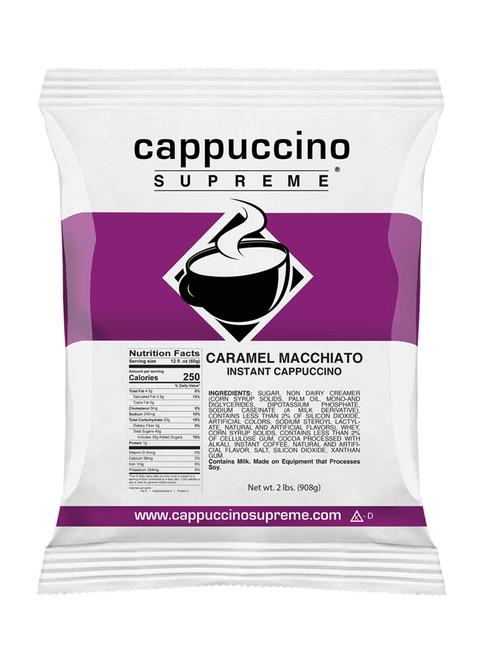 Cappuccino Supreme Caramel Macchiato instant cappuccino mix 2 lb bag