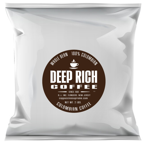 Deep Rich 2 lb bag of Colombian whole bean coffee