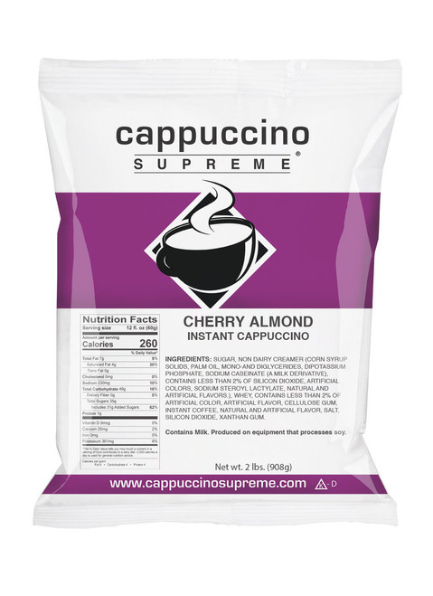 Cherry Almond Cappuccino Supreme 2 Lb. Bag Perfect for home or commercial use.