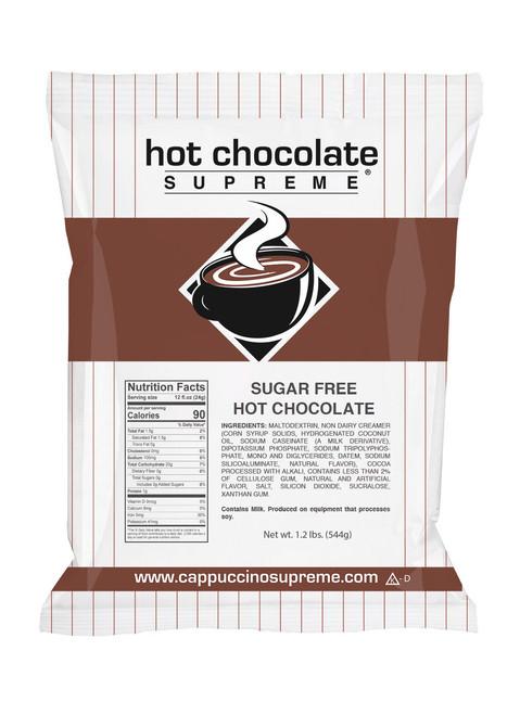 Hot Chocolate Supreme sugar free instant hot chocolate mix