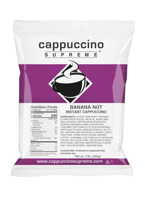 Banana Nut Cappuccino Supreme 2 lb. bag