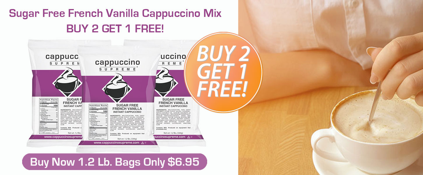 Sugar Free French Vanilla Cappuccino Mix Buy 2 Get 1 Free