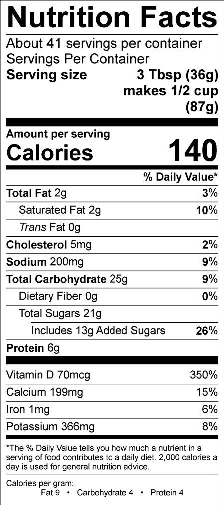 Shivery Shake chocolate soft serve mix nutrition