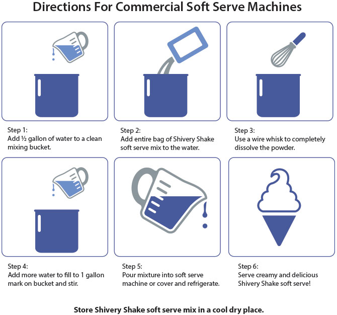Click to print commercial soft serve directions