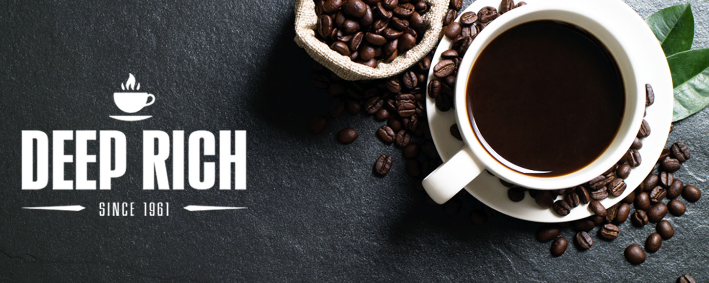 Deep Rich Roasted and Ground coffee