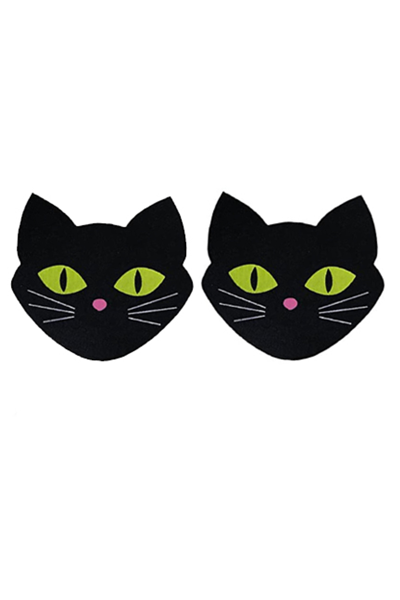 Black Kitty Disposable Nipple Pasties 2 pairs