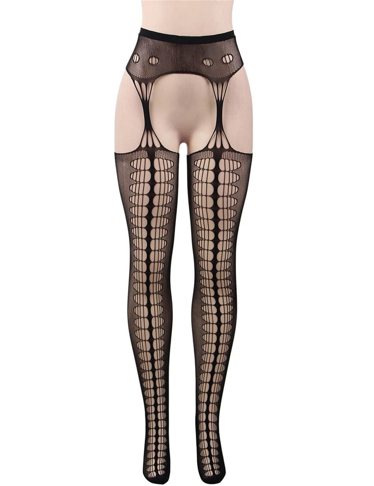 Fishnet Cutout Garter Hose Stockings