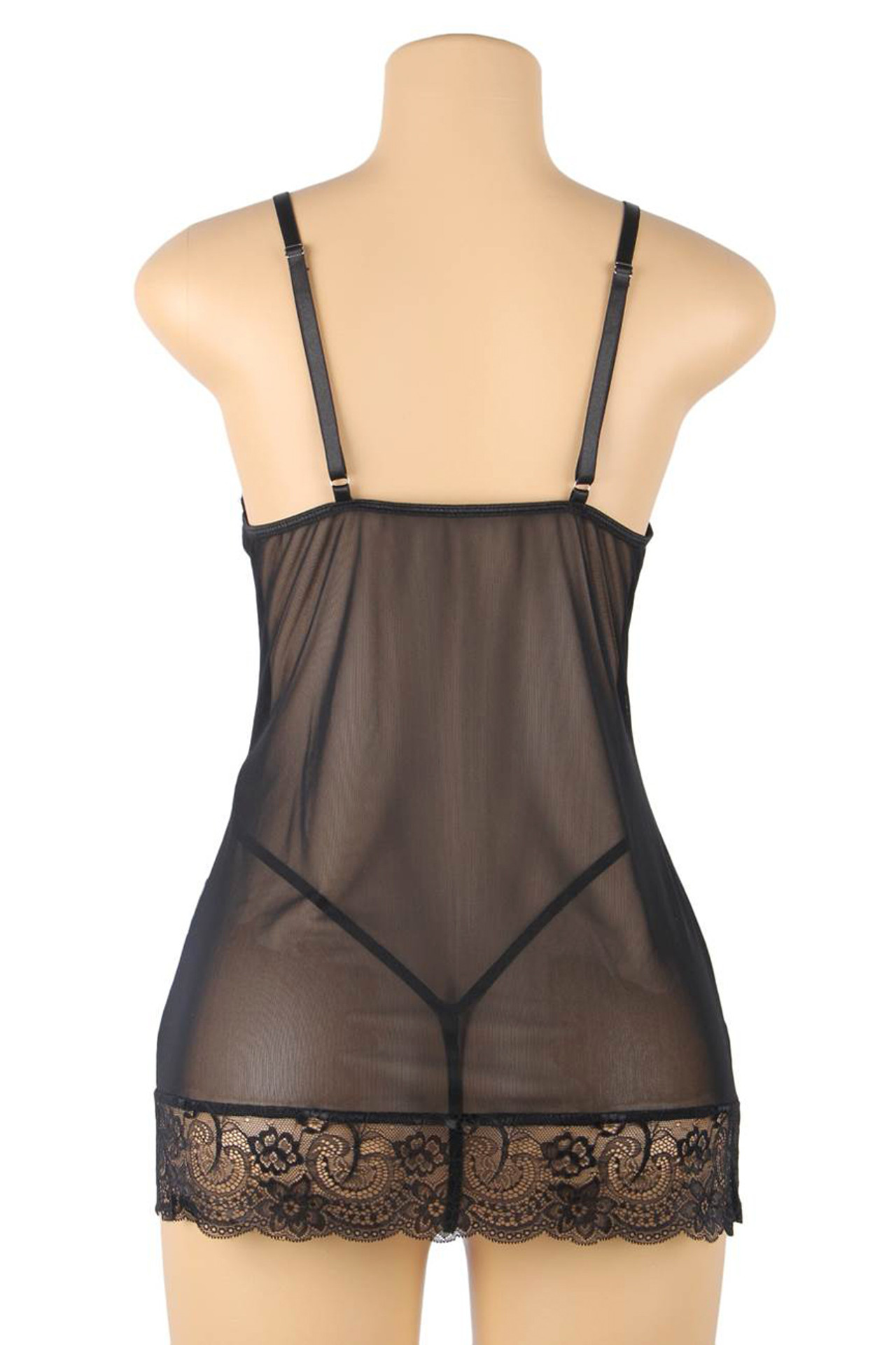 Florence Floral Sheer Mesh Chemise