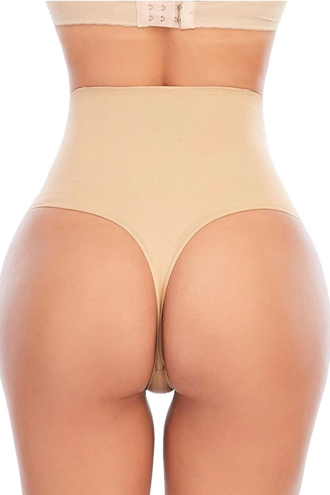 Tummy Trimmer High Waist Thong Panty Girdle