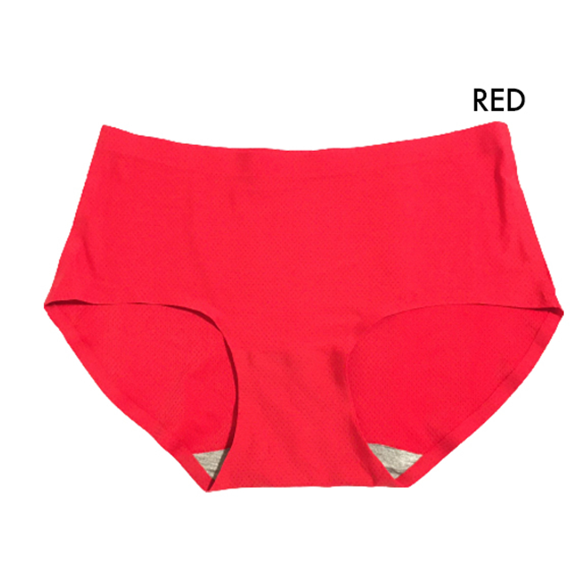 Basic Color Seamless Midrise Air Cool Breathable 4 pack Panties