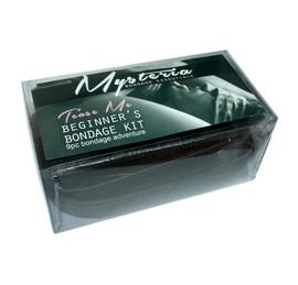 Black Faux Leather Fur Lined 10 piece Beginner's Bondage Kit