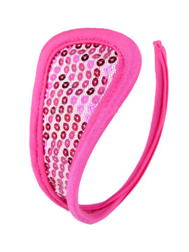 Pink Sequin C String Invisible Thong Panty