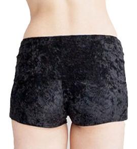 Black Velvet Boyshort Panty