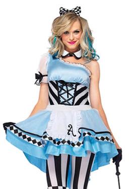 Deluxe Alice in Psychedelic Wonderland Halloween costume