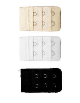 black white beige trio pack bra extenders