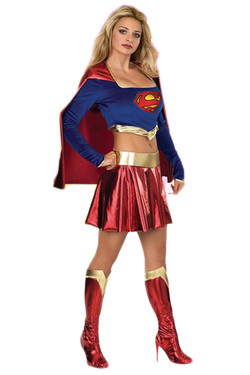 Cropped Long Sleeve Super Girl Costume