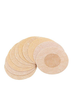 Nude Disposable Nipple Cover Adhesive Tape To Go Braless Backless Tops 5 pairs per pack