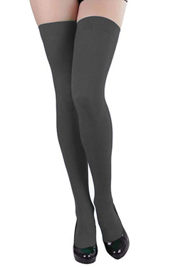 Gray Opaque Thigh Stockings
