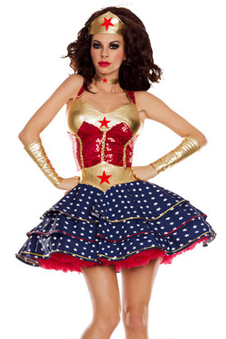 Deluxe Party Woman Woman Tutu Costume