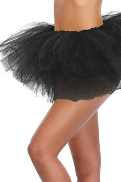 Black Tutu Petticoat Short Skirt