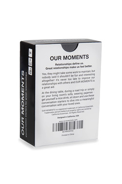 Our Moments Intimacy Card Game for Couples