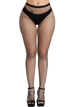 Medium Holes Full Waist to Toe Fishnet Pantyhose Stockings