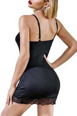 Bernice Black Scallop Lace Chemise Sleepwear
