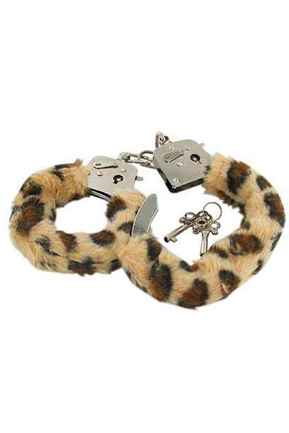 Leopard Faux Fur Roleplay Handcuffs
