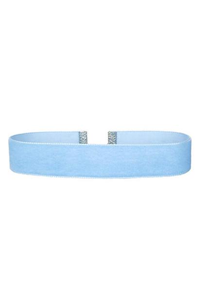 Blue Velvet Choker Necklace