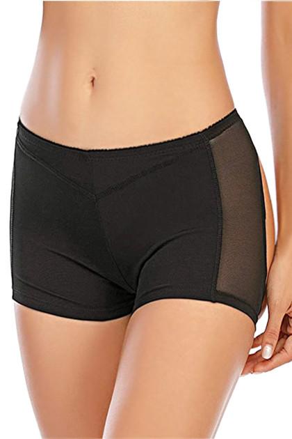 Black Butt Lifter Boyshort Panty Girdle