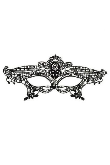 Ingrid Gothic Embroidered Lace Masquerade Eye Mask