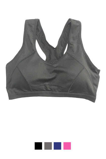 Breathable Low Impact Racerback Padded Sports Bra
