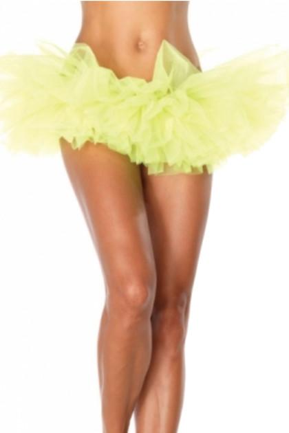 Yellow Organza Tutu Skirt
