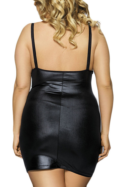 Zora Faux Leather Dress Plus Size