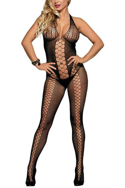 Astrid Criss Cross Fencenet front Body Stockings