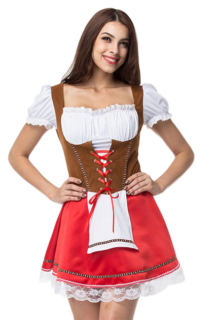 Dina German Drindl Beer Maid Costume Plus XL