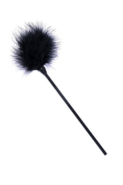 Black Marabou Feather Tickler
