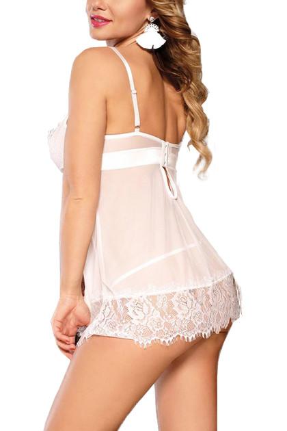 Leila White Bridal Chemise Plus Size