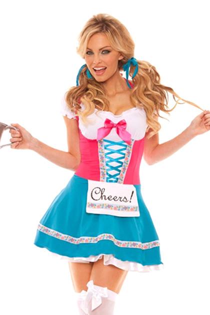 Cheers! Beer Maiden Peasant Dress Costume
