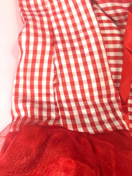 Red Riding Hood Gingham Peasant Dress Costume (slightly damaged)