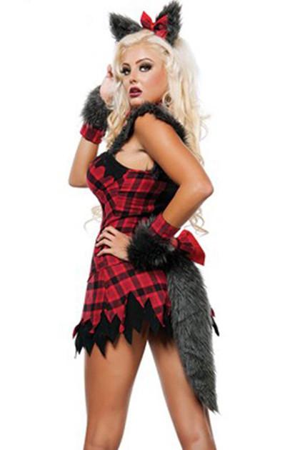 Wolf Lumberjack Babe Costume