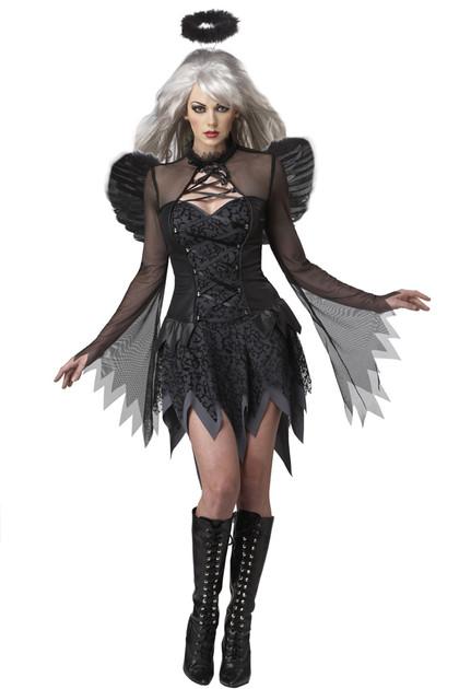 Deluxe Sultry Dark Fallen Angel Halloween Costume XL