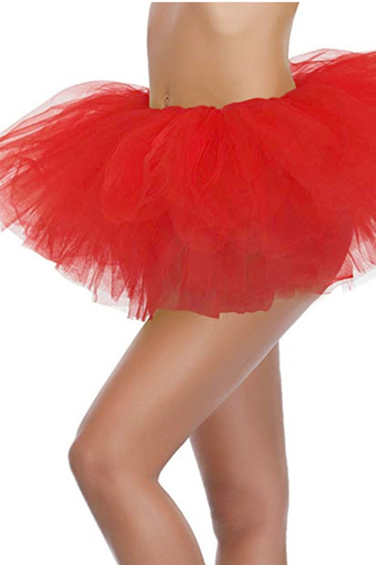 Red Tutu Petticoat Short Skirt