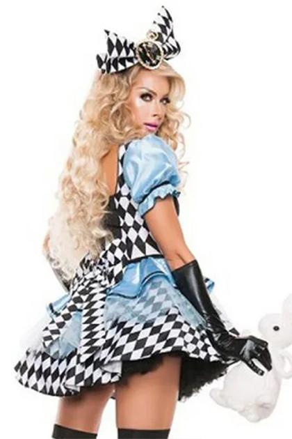 Tea Party Checkered Alice Costume