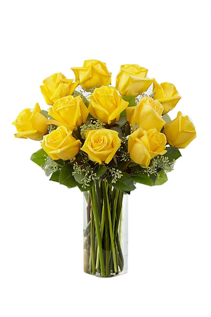 Yellow Roses Flower Bouquet Vintage Blooms by Lucky Doll®