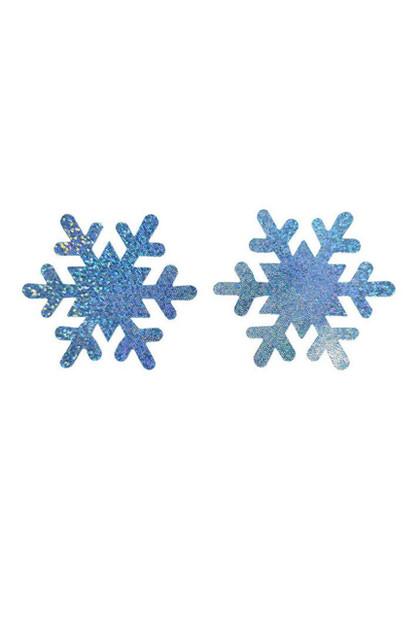 Christmas Sparkly Snowflakes Disposable Nipple Pasties 1 pair