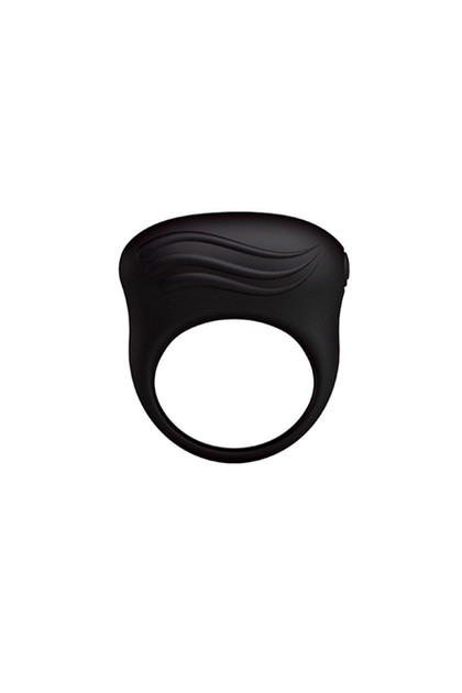 Bertram Black Silicon Vibrating Cock Ring for Men